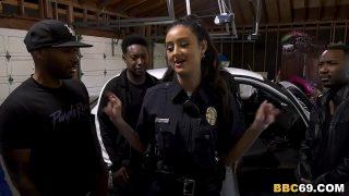 Police Officer Eliza Ibarra Deepthroats Every Big Black Cock